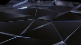 Svart abstrakt låg poly triangelbakgrund Royaltyfria Foton