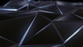 Svart abstrakt låg poly triangelbakgrund Royaltyfri Foto