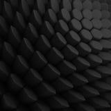 Svart abstrakt sexhörningsbakgrund 3d som framför geometriska polygoner Arkivbild