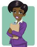 svart affärskvinna Vektor Illustrationer