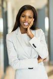 svart affärskvinna Arkivfoto