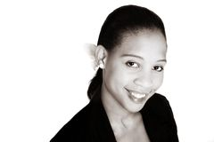 svart affärskvinnasepia arkivfoton