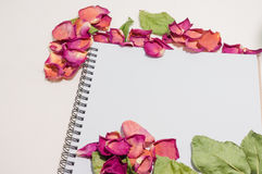 Svart anteckningsbok Realistisk mallanteckningsbok Design för tom räkning Arkivfoton
