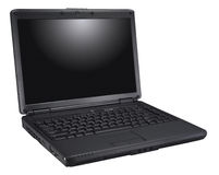 svart bärbar dator