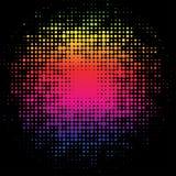 Svart bakgrund med cirklar för en regnbåge royaltyfri illustrationer