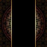 Svart bakgrund med den geometriska modellen - vektor royaltyfri illustrationer
