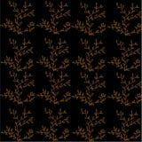 Svart bakgrund med det abstrakta guld- trädet Royaltyfri Fotografi