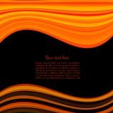 Svart bakgrund med det orange musikbandet för text Arkivfoton