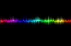 Svart bakgrund med ljudet Royaltyfri Illustrationer
