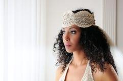 svart barn för klänningbröllopkvinna fotografering för bildbyråer
