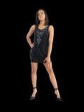 svart barn för klänningkortslutningskvinna Royaltyfria Bilder