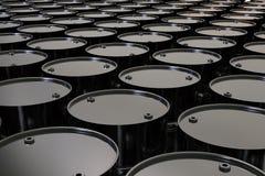 Svart barrels bakgrund Royaltyfri Bild