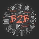Svart begrepp av B2B royaltyfri illustrationer