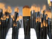 Svart behandlade målarfärgborsten Royaltyfri Foto