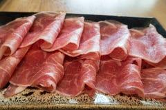 Svart Berkshire grisköttkött Arkivbild