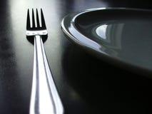 svart bestickwhite Royaltyfri Foto