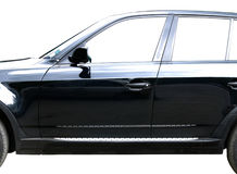 svart bil Fotografering för Bildbyråer