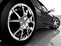 svart bil vektor illustrationer