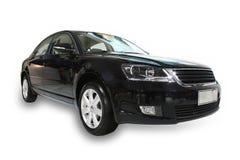 svart bil mercedes för benz Royaltyfri Fotografi