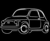 svart bilcinquecento för bakgrund Arkivfoto