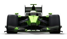 svart bilgreenrace Arkivfoto