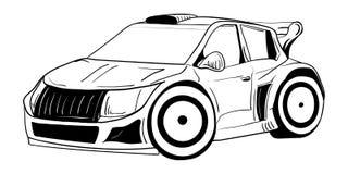 svart bilsport Fotografering för Bildbyråer