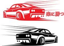 svart bilsport Arkivbilder