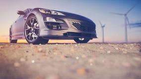 svart bilsport Arkivfoto