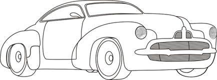 svart bilwhite stock illustrationer