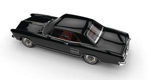 svart bilwhite för bakgrund Arkivbild