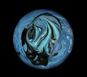 svart blå djupt en planetavståndssolnedgång Svart utrymme Royaltyfri Fotografi