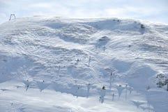 svart blått footwayfotolandskap tonade vita vinterträn arkivfoton