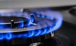 svart blått naturligt rør för bränslegas Arkivbild