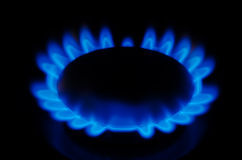 svart blått naturligt rør för bränslegas Royaltyfria Bilder