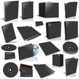 svart blank räkning för samling 3d Royaltyfri Foto