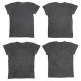 svart blank skjorta t Arkivfoto