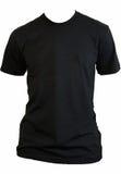 svart blank tshirt Royaltyfri Bild