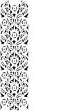 svart blom- dekorativ remsa vektor illustrationer