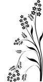 svart blom- filialgarnering stock illustrationer