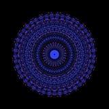 Svart blom- m?rkermodellkalejdoskop geometriskt motiv vektor illustrationer
