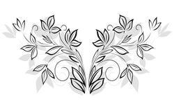 svart blom- modell Royaltyfri Fotografi