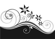 svart blom- modell vektor illustrationer