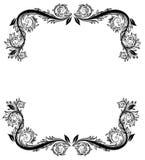 svart blom- ram Royaltyfri Foto