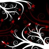 svart blom- red Arkivfoton