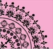 svart blom- rosa kvadrant stock illustrationer