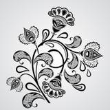 svart blommawhite Arkivbilder