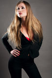 svart blond dräkt Royaltyfria Bilder