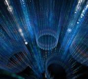 svart blue för bakgrund Yttersida med randiga cirklar i mörker 3d Royaltyfri Bild