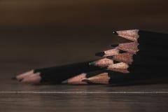 svart blyertspenna royaltyfri bild