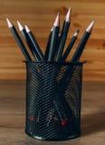 svart blyertspenna arkivfoton